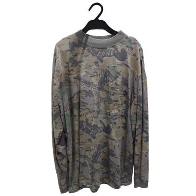 イージー Sサイズ メンズ 長袖Tシャツ Yeezy Season 4 MOCK TEE LONG SLEEVE CAMO ARMY