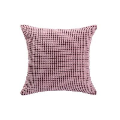 uxcell クッションカバー 北欧 おしゃれ スロー枕カバー ピローケース 洗える ベルベット ソファー/椅子/部屋/車 装飾 コーンストライプ 45x45cm ピンク