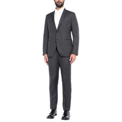 カンタレリ CANTARELLI スーツ 鉛色 54 バージンウール 100% スーツ