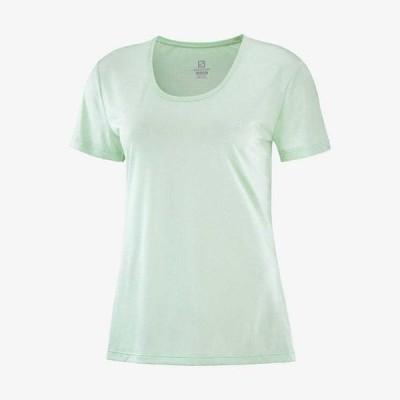 メール便OK SALOMON(サロモン) LC1483300 AGILE アジャイル 半袖Tシャツ ウィメンズ ハイキング ロードランニング