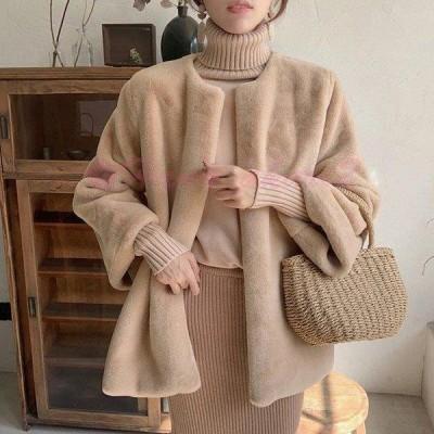 コート 毛皮コート レディース 冬 40代 新品 アンゴラコート もこもこ エコ毛皮 モコモコ 暖かい フェイクアンゴラ毛皮ジャケット 韓国風 アウター 上品 着痩せ