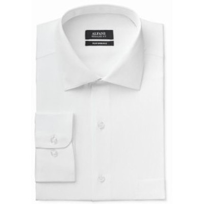 Alfani  ファッション ドレス Alfani NEW Bright White Mens Size Large L One Pocket Ribbed Dress Shirt