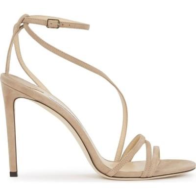 ジミー チュウ Jimmy Choo レディース サンダル・ミュール シューズ・靴 Tesca 100 Taupe Suede Sandals Nude