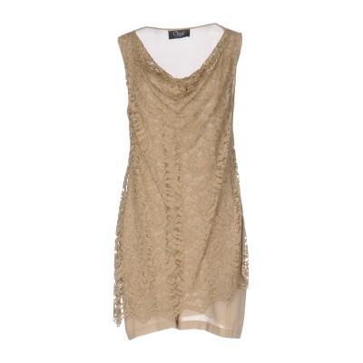 CLIPS ミニワンピース&ドレス キャメル 44 レーヨン 59% / ナイロン 41% ミニワンピース&ドレス