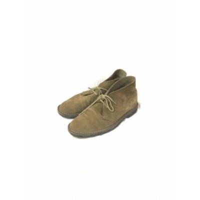 【古着】REGAL リーガル メンズ チャッカーブーツ プレーントゥ スエード 牛革 ブラウン 25cm/メンズ・ブーツ【中古】[☆3][1225