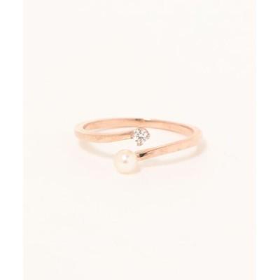指輪 K10ダイヤパールリング