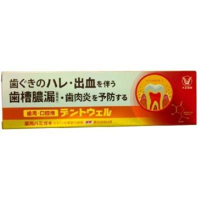 大正製薬 歯周・口腔用デントウェル(100g) 薬用ハミガキ 歯槽膿漏を防ぐ はみがき粉