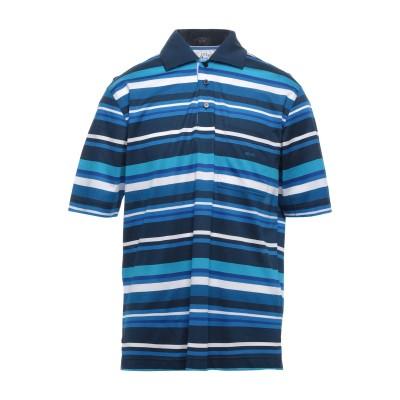 ポール・アンド・シャーク PAUL & SHARK ポロシャツ アジュールブルー L コットン 100% ポロシャツ