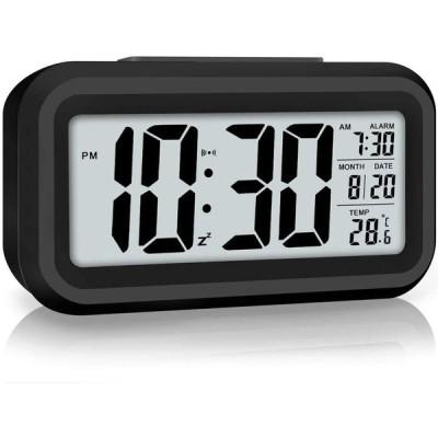 置き時計 led 目覚まし時計 大音量ラージLED デジタル置時計 ダブルUSBポート付きled時計 置き時計 多機能 カレンダー 温度 湿度 時計