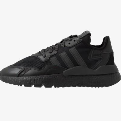 アディダス メンズ 靴 シューズ NITE JOGGER - Trainers - core black