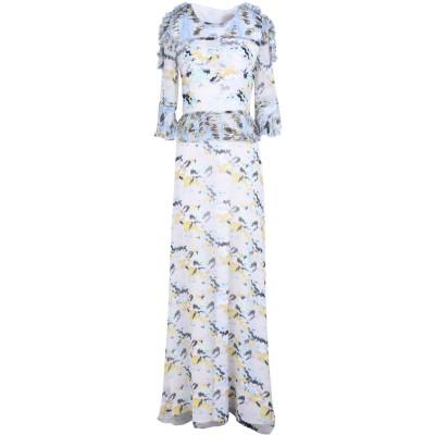 RARY ロングワンピース&ドレス ホワイト 40 シルク 60% / ポリエステル 40% ロングワンピース&ドレス