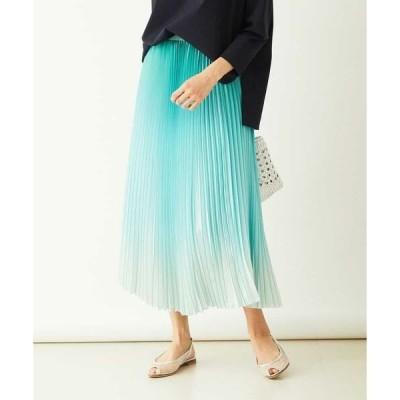 MICHEL KLEIN / ミッシェルクラン 【洗える】グラデーションプリーツスカート