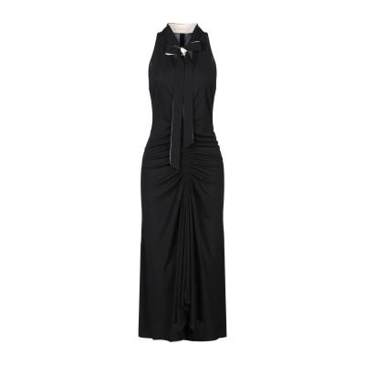 SSHEENA 7分丈ワンピース・ドレス ブラック 44 トリアセテート 80% / ナイロン 20% 7分丈ワンピース・ドレス
