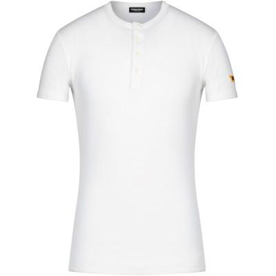 ディースクエアード DSQUARED2 アンダーTシャツ ホワイト S コットン 94% / ポリウレタン 6% アンダーTシャツ