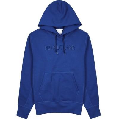 ヘルムート ラング Helmut Lang メンズ スウェット・トレーナー トップス Standard Blue Logo Cotton Sweatshirt Blue