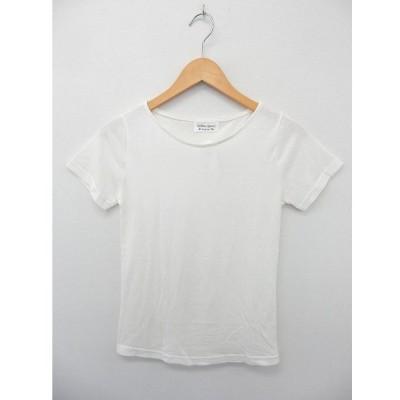 【中古】RIBBON DRESS カットソー Tシャツ 半袖 ボートネック 無地 シンプル ホワイト /ST12 レディース 【ベクトル 古着】
