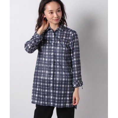 LA JOCONDE/ラ ジョコンダ プリントメッシュシャツ ネイビー 38
