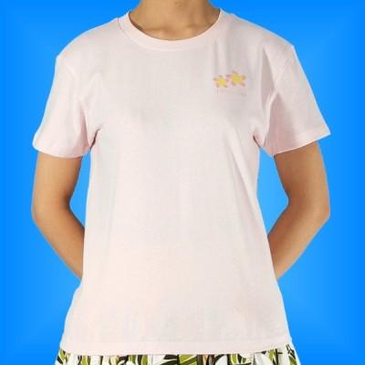 フラダンス Tシャツ L プルメリア ピンク 542lp