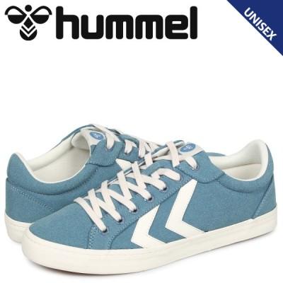 ヒュンメル hummel デュース コート スニーカー メンズ レディース DEUCE COURT ブルー HM206425-7487