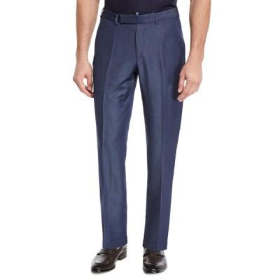 エルメネジルド・ゼニア メンズ カジュアルパンツ ボトムス Men's Wool/Linen Dress Trousers