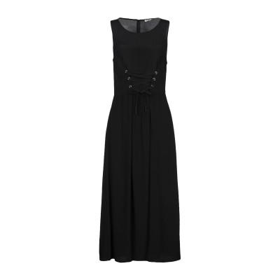 RUE•8ISQUIT ロングワンピース&ドレス ブラック 40 レーヨン 100% ロングワンピース&ドレス