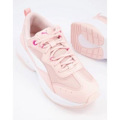 プーマ Puma レディース スニーカー チャンキーヒール シューズ・靴 Cilia chunky trainers in pink ピンク