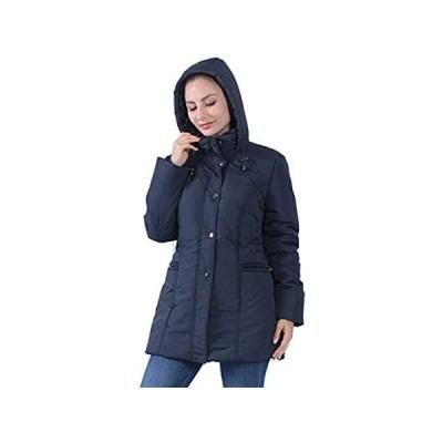 Plusfeel Women's Puffer Coat Warm Hooded Parka Jacket Outdoor Sports Coat H