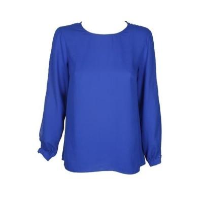 ユニセックス 衣類 トップス Vince Camuto Blue Split-Sleeve Peplum Back Blouse XS ブラウス&シャツ