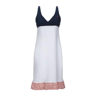 COOPERATIVA PESCATORI POSILLIPO ミニワンピース&ドレス ホワイト M コットン 94% / ポリウレタン 6% ミニ