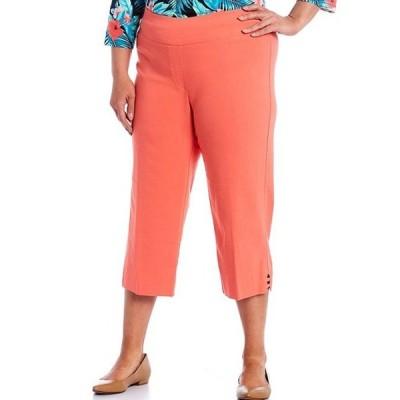 ルビーアールディー レディース カジュアルパンツ ボトムス Plus Size Pull On Solar Millennium Capri Pants
