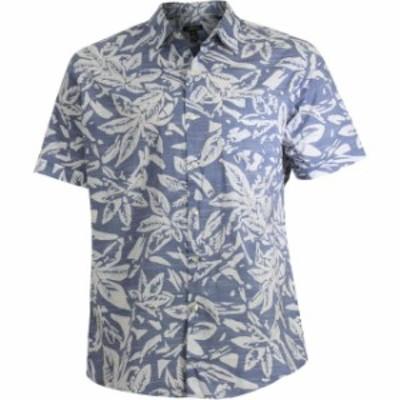 ファッション アウター Van Heusen Printed White Washed Short Sleeve Button Down Shirt