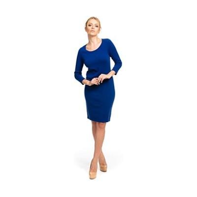 Citizen Cashmere スクープネック ニットワンピース カシミヤ100% ブルー(XL) 35 221-20-04