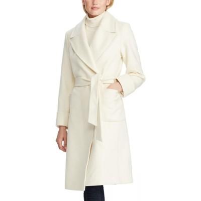 ラルフ ローレン LAUREN RALPH LAUREN レディース コート ラップコート アウター Wool Blend Wrap Coat Moda Cream