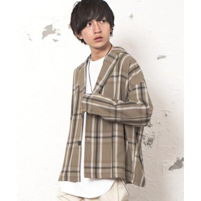 MinoriTY / 【2020秋冬】ビッグテーラージャケット チェック スプリングコート オーバーサイズ MEN ジャケット/アウター > テーラードジャケット