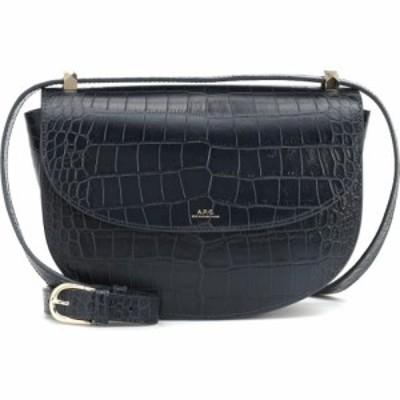 アーペーセー A.P.C. レディース ショルダーバッグ バッグ Geneve Croc-Effect Leather Shoulder Bag Iak Dark Navy