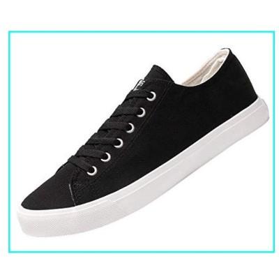 Fear0 NJ Unisex True to Size Black/White Tennis Casual Canvas Sneakers Shoes for Mens 10.5 D(M) US Men