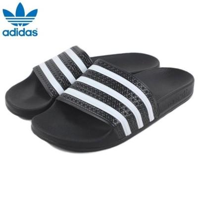 定番 アディダス adidas ADILETTE アディレッタ ブラック/ホワイト/ブラック 280647