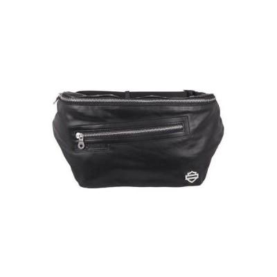 女性 バッグ ハンドバッグ ハーレーダビッドソン Harley-Davidson Women's 'In The Saddle' Leather Belt Bag, Black  HDWBA11283-BLK