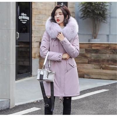 いまだけの限定特価中 女性 大人 冬服 ファッション スリム カジュアル コート アウター ダウンコート 中長セクション 防寒 帽子付き エレガント 百掛け トップス