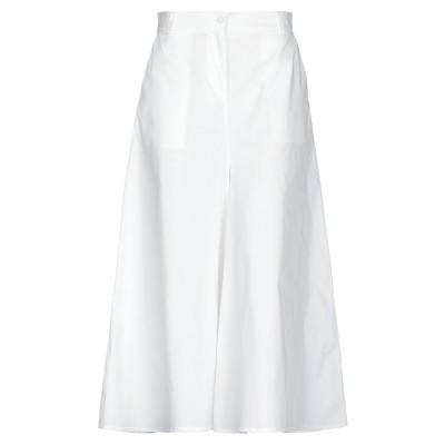 SUOLI パンツ ホワイト 44 コットン 68% / ナイロン 29% / ポリウレタン 3% パンツ