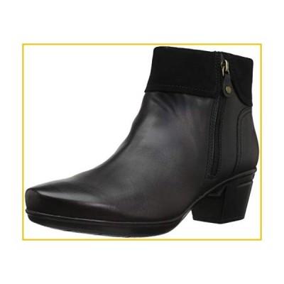 Clarks Women's Emslie Twist Fashion Boot, Black Leather/Suede Combi, 10 M US