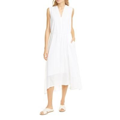 ヴィンス ワンピース トップス レディース Cotton Voile Midi Dress Optic White