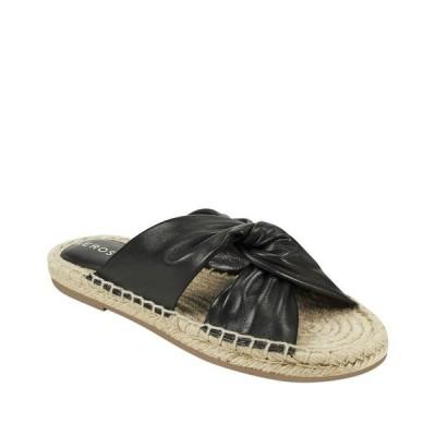 エアロソールズ サンダル シューズ レディース Paramus Knotted Casual Sandal Black Leather