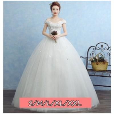 結婚式ワンピース ウェディングドレス ファッション レディース Vネック 体型カバー aライン 大人の魅力 ロング丈ワンピ-ス
