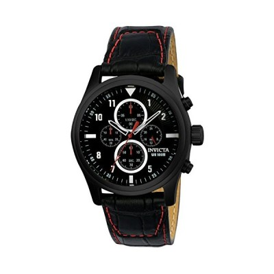 Invicta 22978 Aviator Men's Wrist Watch Stainless Steel Quartz Black Dial 並行輸入品
