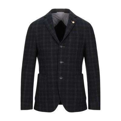 BRECO'S テーラードジャケット ブラック 48 コットン 47% / ウール 30% / ナイロン 12% / ポリエステル 11% テーラー