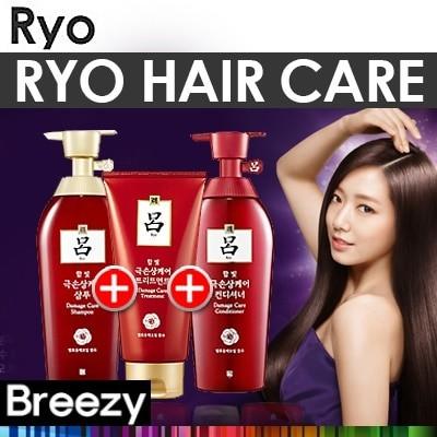 BREEZY [呂]韓国シャンプーセット集合!含光毛シャンプー2個+トリートメント1個セット/滋養潤毛セット/黒雲毛セット/Hair Care / Korean No.1 Hair Care Bra