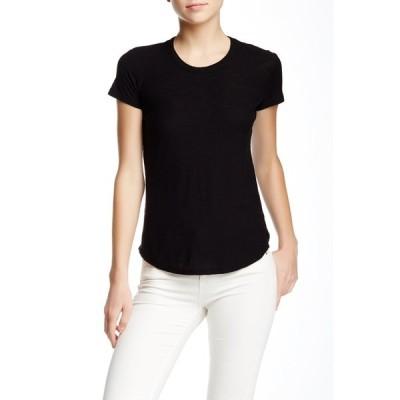 ジェームス パース レディース Tシャツ トップス Crew Neck Short Sleeve T-Shirt BLACK