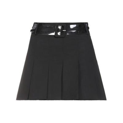 DUA LIPA x PEPE JEANS ミニスカート ブラック XS コットン 97% / ポリウレタン 3% ミニスカート