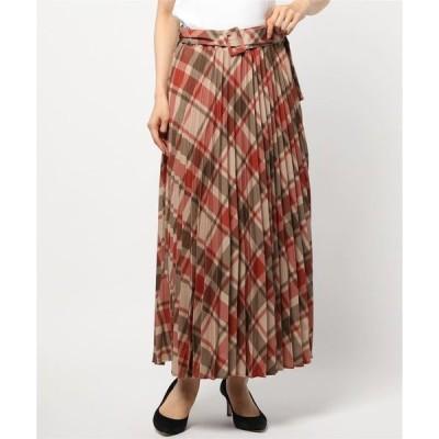 スカート ビッグチェックプリーツスカート